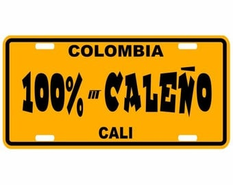 Caleño - Colombia Decorative License Plate - Placa Cali