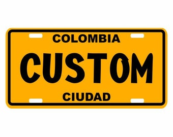 Custom - Colombia Decorative License Plate - Placa Personalizada