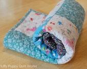 Baby Quilt, Stroller Blanket, Blue Blanket, Stroller Quilt, Blue Baby Quilt, Pink Baby Quilt, Teal Baby Quilt, Toddler Quilt