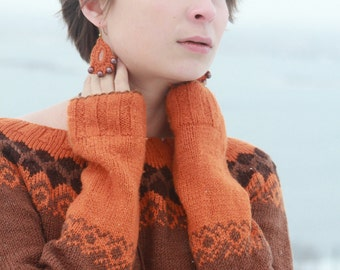 Nordic style sweater/ Iceland style sweater/ Women's sweater/ Handmade woman sweater/ MADE to ORDER