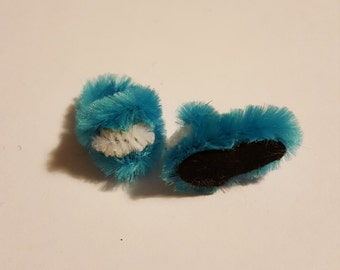 dolls house fluffy slippers 12th scale