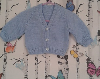 Baby Boy Cardigan, Baby Boy, Knitted Cardigan, Hand Knitted, Handmade