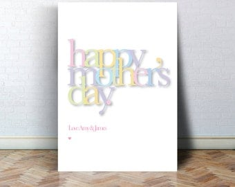Happy Mothers Day Print
