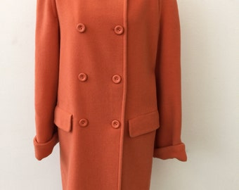 Sisley orange wool coat