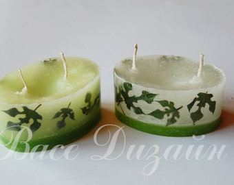 Set of 2 hand made candles.Candles.Handmade candles.Christmas candle.Decor home