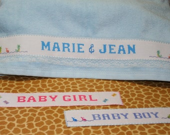 Personalized Hand Made Cross Stitch Towels