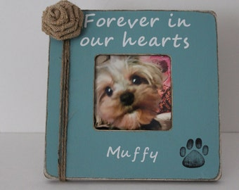 Pet Memorial Frame, Pet Picture Frame, Dog Memorial, Cat Memorial, Turquoise Frame