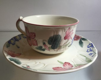 Villeroy and Boch Tea Cup and Saucer Luxembourg flora bella Porcelain China
