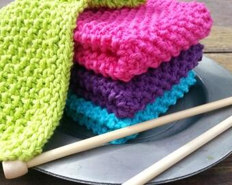 Set of four fluffy bath cloths