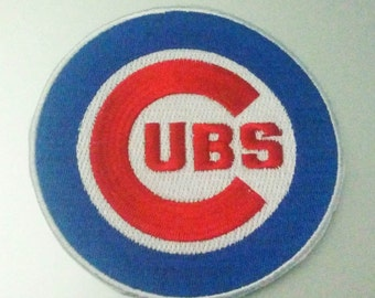 "Chicago Cubs Logo Iron On Patch 3 1/2"" Baseball Logo Free Shipping"