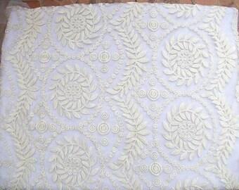 TheFabriqBoutique - Organza Lace See-through Lace Flower Motif Lace Wedding Lace