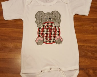 Alabama Baby Onesie-Customized with Initals- Boy or Girl
