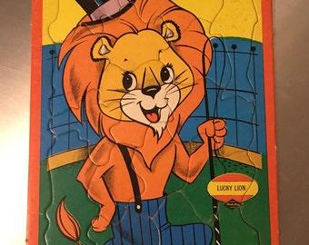 Lucky Lion, Warren Built Rite Puzzles, 1960's