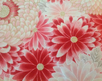 Satsuki by Robert Kaufman-Blossom Flowers Metallic Accent-1Yard