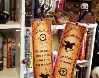 Camp half-blood bookmark - Handmade