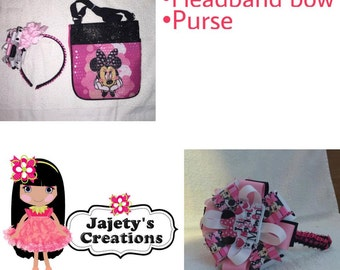 Minnie Mouse Purse and Bow