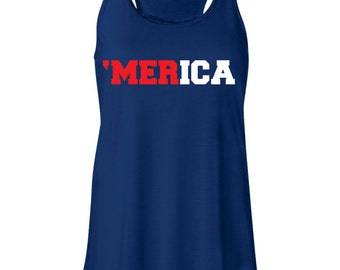 4 of July Tank. 'Merica Tank. Summer Tank. Workout Tank. Beach Tank. Running Tank.