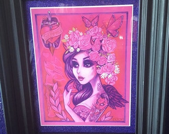 "Framed ""Indifference"" print"