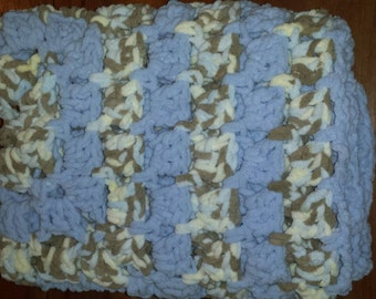 Granny square Chunky Crochet  Baby Blanket