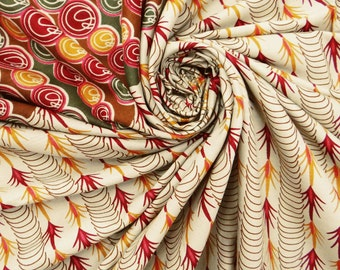 Indian Brown Craft Cotton Fabric For Sewing Decorative Fabric For Quilting Dressmaking Material Fabric Indian Craft Fabric By 1 Yard ZBC1815