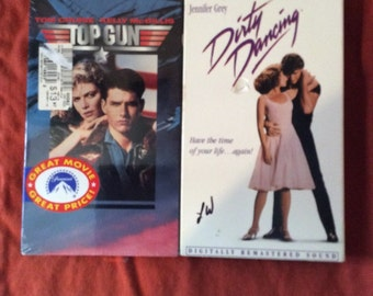 Top Gun & Dirty Dancing VHS