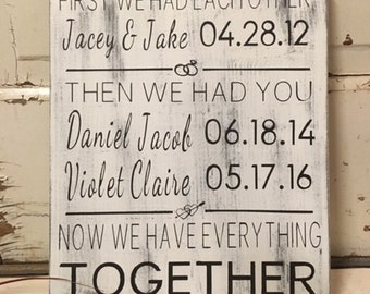 First We Had Each Other family sign - 11x14 - Then We Had You