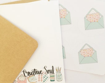 Creative Soul  Note Card Stationery Writing Set