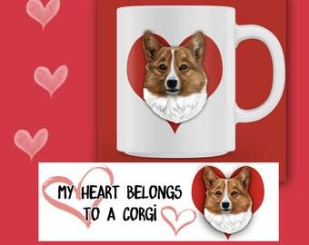 CORGI MUG, Corgi Coffee Mug, Dog Mug, Corgi Lover Gift, Corgi Coffee Mug