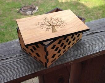 Hope Keepsake Box - Laser Cut Wooden Box - Manufactured in Pittsburgh, PA