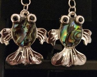 Koi  Fish Abalone Earrings