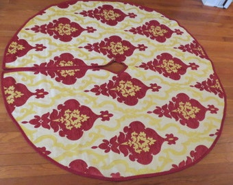 Christmas Tree Skirt Large 55 inches Round Reversible -Free Shipping