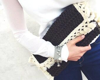 MYKONOS HANDBAG / Crochet handbag