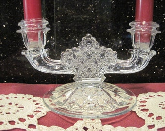 Fenton Daisy and Button Candle Holder - Item #1243