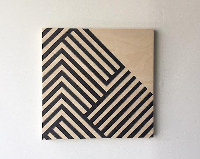 SAMPLE SALE!  LINES wood art print