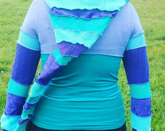Upcycled pixie boutique shrug hoodie