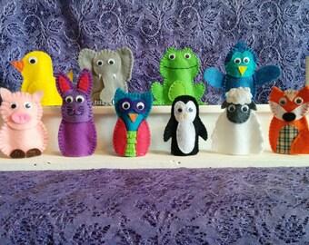 Handmade Felt Finger Puppets