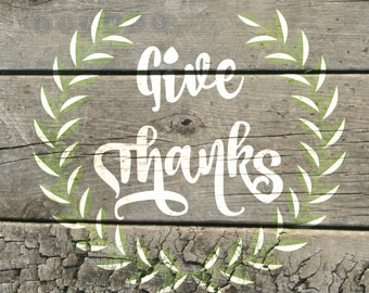 Give Thanks Digital Download Sign- would be cute in a frame for Thanksgiving or any time of the year!
