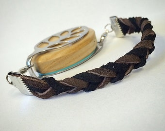 SILVER Suede Bracelet for the Bellabeat Leaf