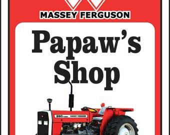 Massey Ferguson Tractor Sign -Add Name