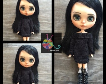 FREE SHIPPING! - Black Blythe Sweater Dress
