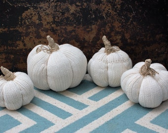 Ready to ship set of 4 sweater pumpkins