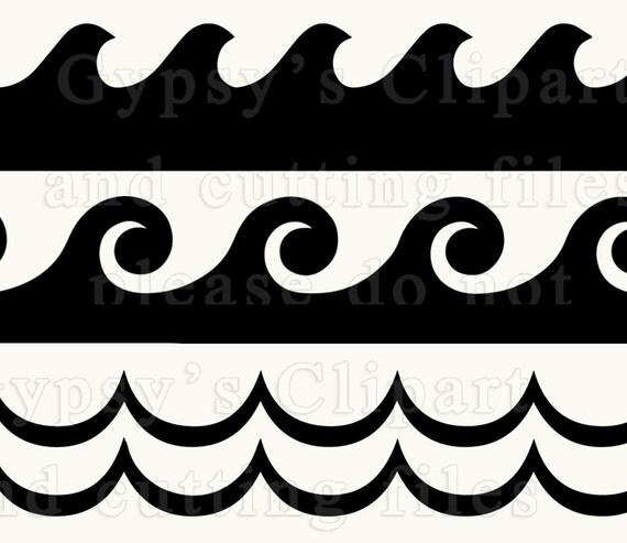 Wave Svg Ocean Wave Wave Border Ocean Wave Svg