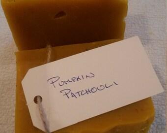 Pumpkin Patchouli Soap Bar Organic Body soap Face soap Unscented