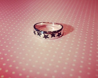 925 Sterling Silver Star Baby Ring