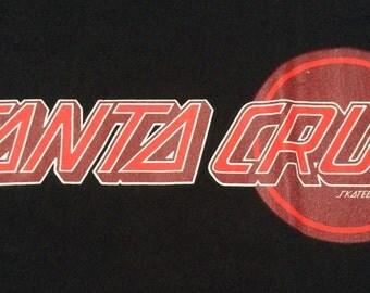 1990s SANTA CRUZ SKATEBOARDS Vintage Made in U.S.A Shirt Size M