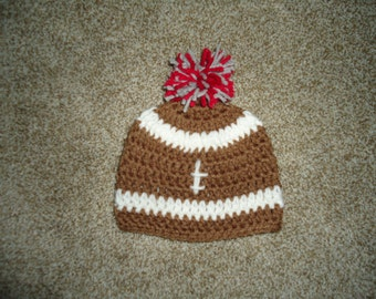 Crochet Infant Football Hat
