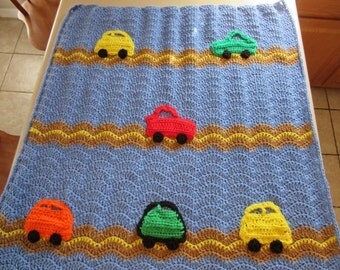Cars on road blanket