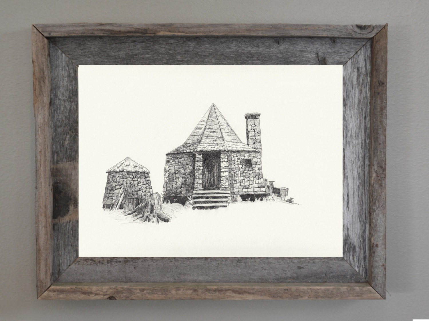 Harry potter harry potter wall art hagrid 39 s house print What house was hagrid in