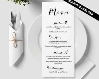 Table menu | Etsy