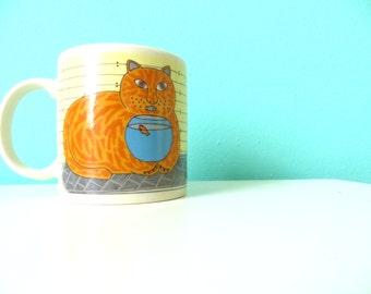 ON SALE Vintage Taylor and Ng Kitty Katfish Mug! // 1980's Authentic // Collectible